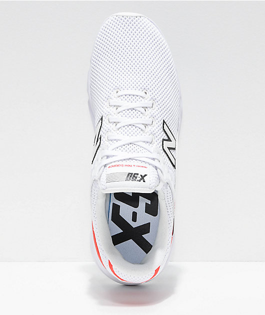New Balance Lifestyle X90 White & Flame Red Shoes