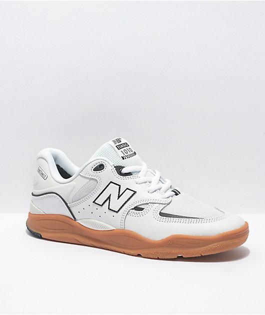 New Balance Numeric 1010 Tiago White & Gum Leather Skate Shoes