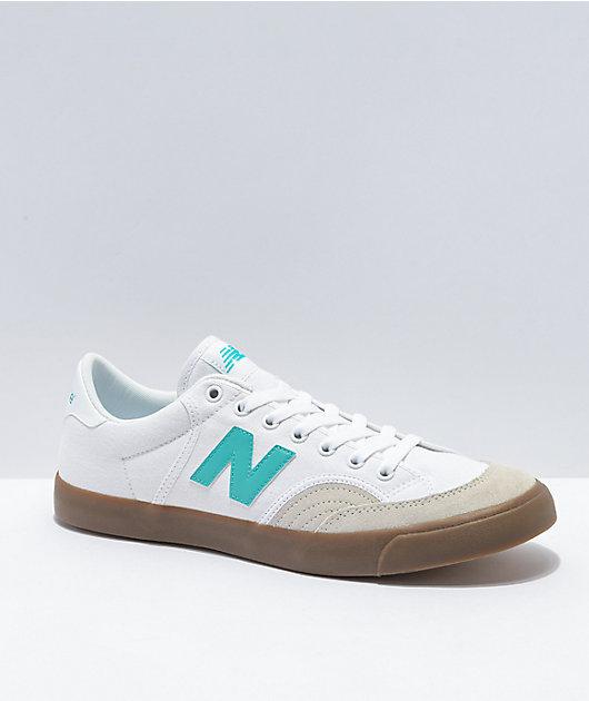 New Balance Numeric 212 White, Tidepool & Gum Skate Shoes