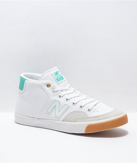 New Balance Numeric 213 Samarria Brevard White & Turquoise Skate Shoes