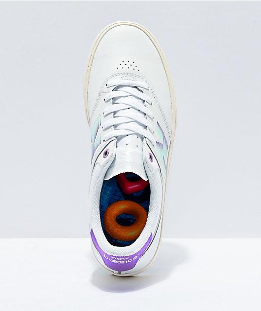 New Balance Numeric 255 Jordan Taylor zapatos de skate blancos y morados