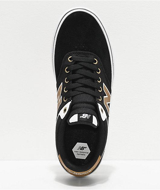 New Balance Numeric 255 zapatos de skate negros, marrones y blancos