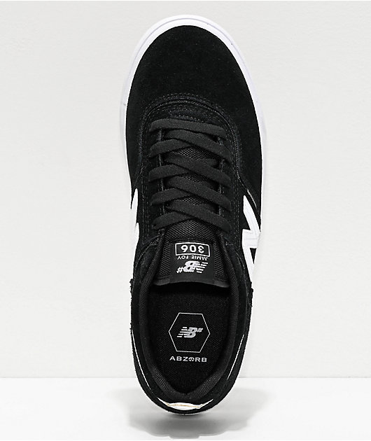 New Balance Numeric 306 Foy Black & White Skate Shoes