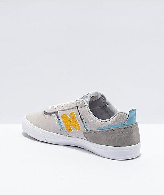 New Balance Numeric 306 Foy Grey & Yellow Skate Shoes