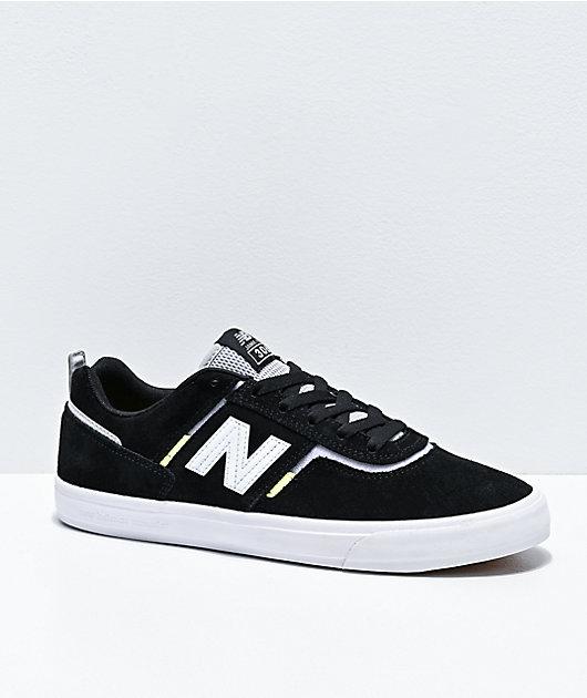 New Balance Numeric 306 Foy Zapatillas De Skate En Negro Blanco Y Verde Neón Zumiez