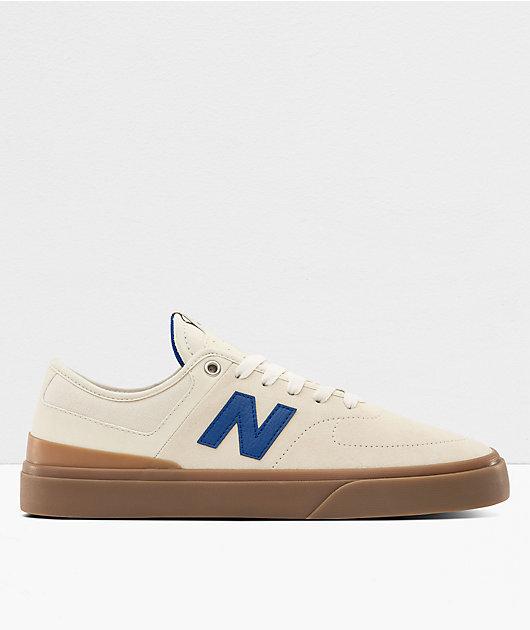 New Balance Numeric 379 White & Royal Blue Skate Shoes