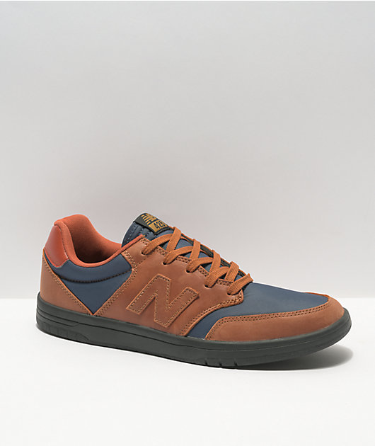 New Balance Numeric 425 Brown & Navy Skate Shoes