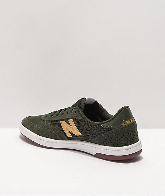 New Balance Numeric 440 Dark Olive & Gold Skate Shoes