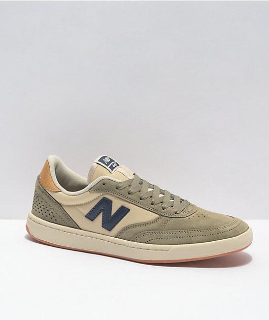 New Balance Numeric 440 Olive & Cream Skate Shoes
