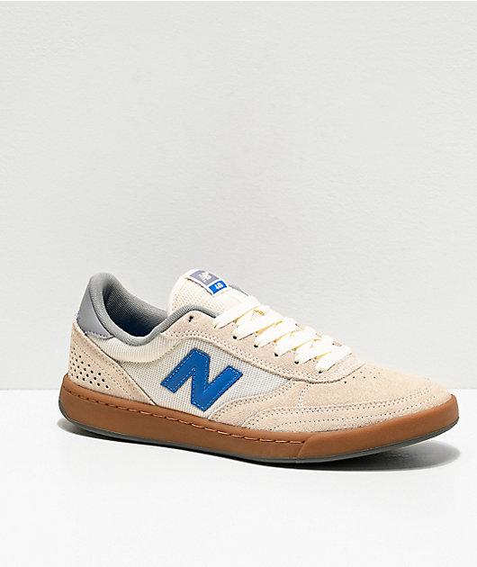 New Balance Numeric 440 Sea Salt & Blue Skate Shoes