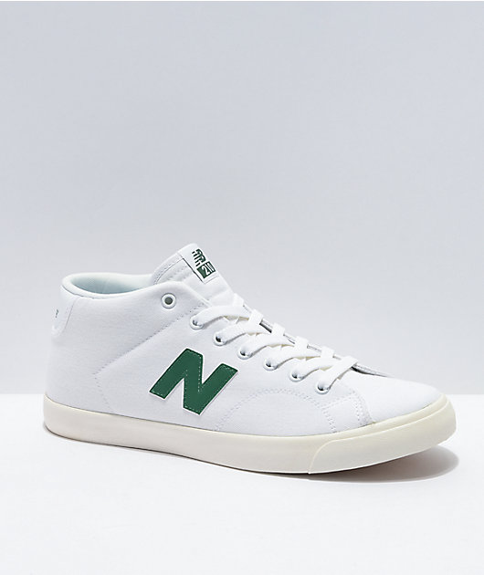 New Balance Numeric All Coast 210 Mid White & Green Skate Shoes
