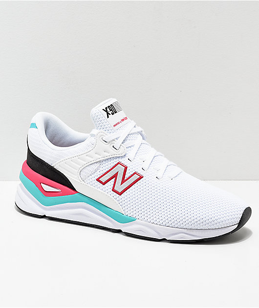 New Balance X-90 White & Pomegranate Shoes