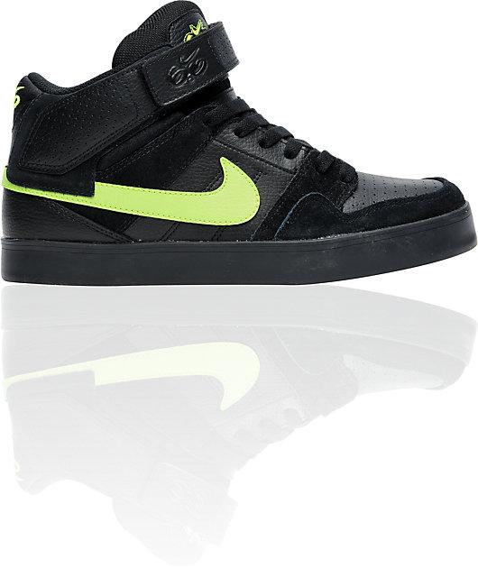 aparato vender Soledad  Nike 6.0 Air Mogan Mid 2 LR Black & Volt Shoes | Zumiez