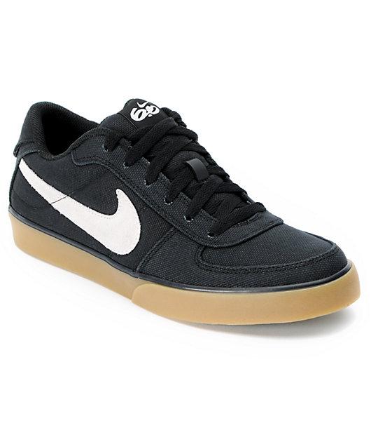 Nike 6.0 Mavrk Black, White & Gum Canvas Skate Shoes