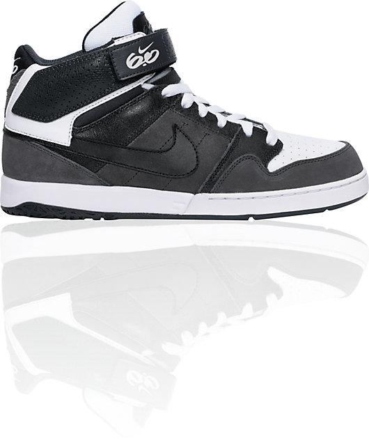 heredar occidental Otoño  Nike 6.0 Zoom Mogan Mid 2 Grey, White, & Black Skate Shoes | Zumiez