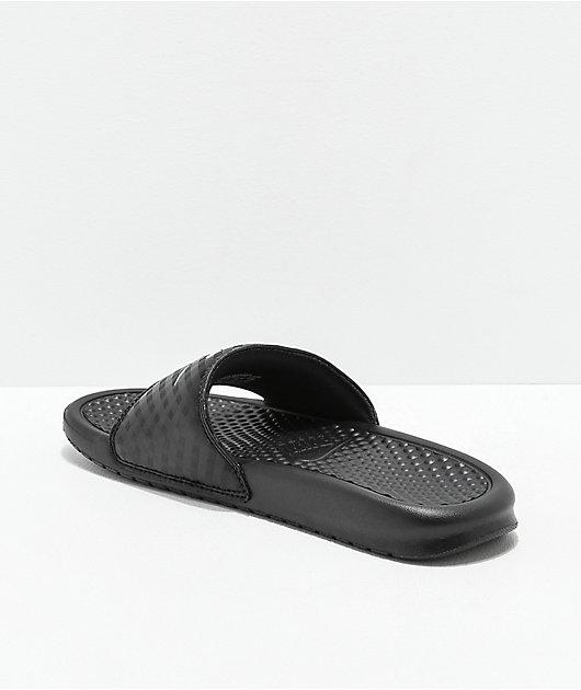 Nike Benassi Black & White Slide Sandals