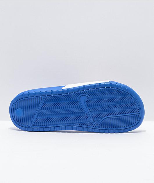 Nike Benassi JDI Game Royal, Red & White Slide Sandals