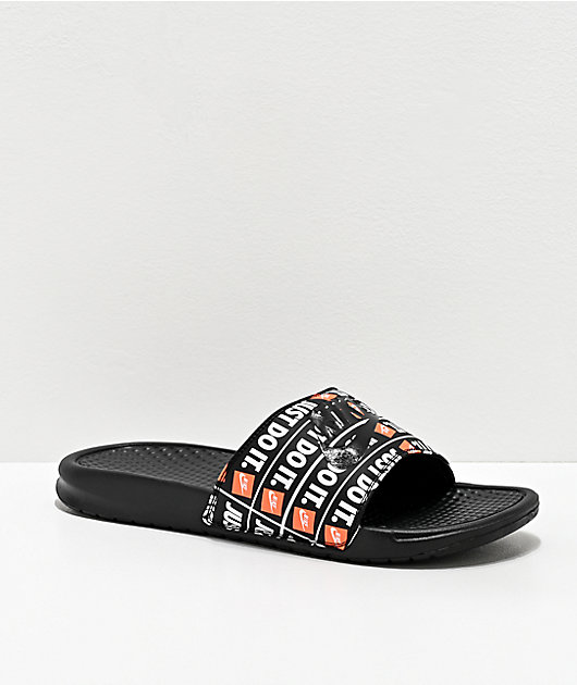 Nike Benassi JDI Print Black Slide Sandals