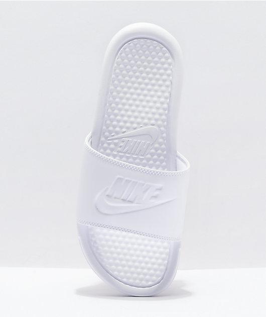 Nike Benassi JDI White & White Slide Sandals