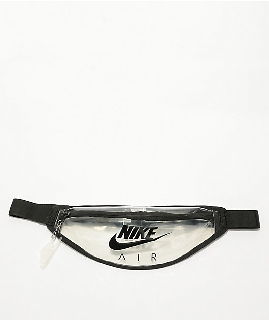 Nike Heritage Clear & Black Fanny Pack