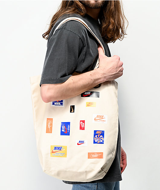 Nike Heritage Natural & Safety Orange Tote Bag