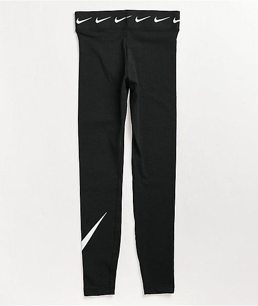 Nike NSW Swoosh High Rise Black Leggings