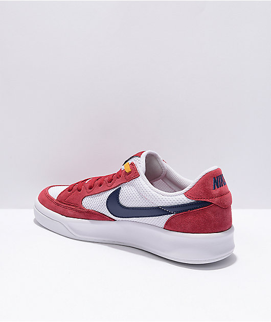 Nike SB Adversary Red & Midnight Navy Skate Shoes
