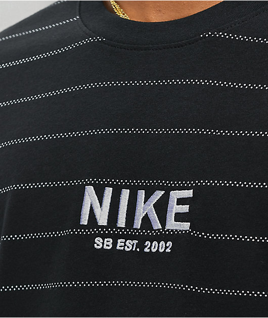 Nike SB Allover Stripe Black T-Shirt
