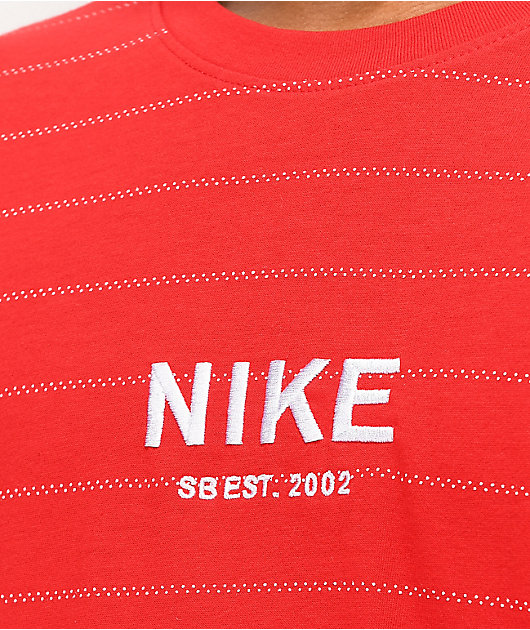 Nike SB Allover Stripe Red T-Shirt