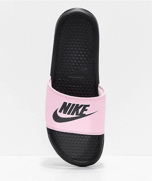 Nike SB Benassi Pink Foam & Black Slide Sandals