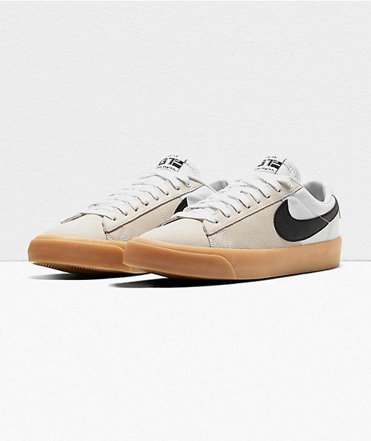 Nike SB Blazer GT Pro White & Gum Skate Shoes