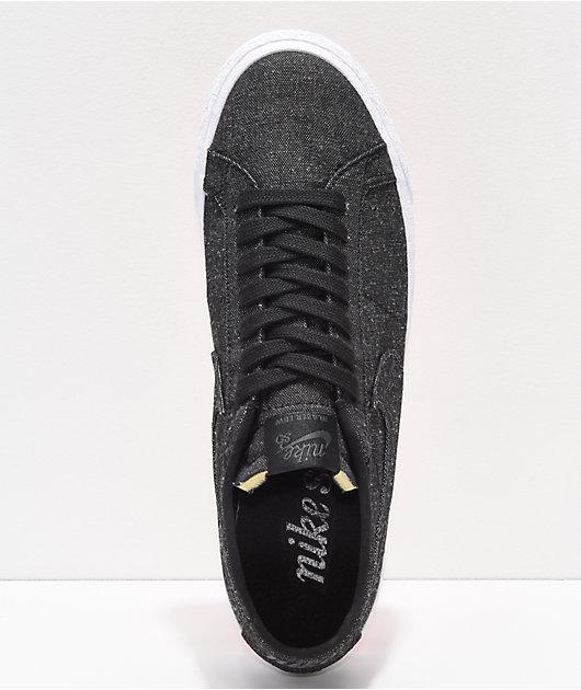 Escoba Mejor el centro comercial  Nike SB Blazer Low Deconstructed Anthracite Canvas Skate Shoes | Zumiez