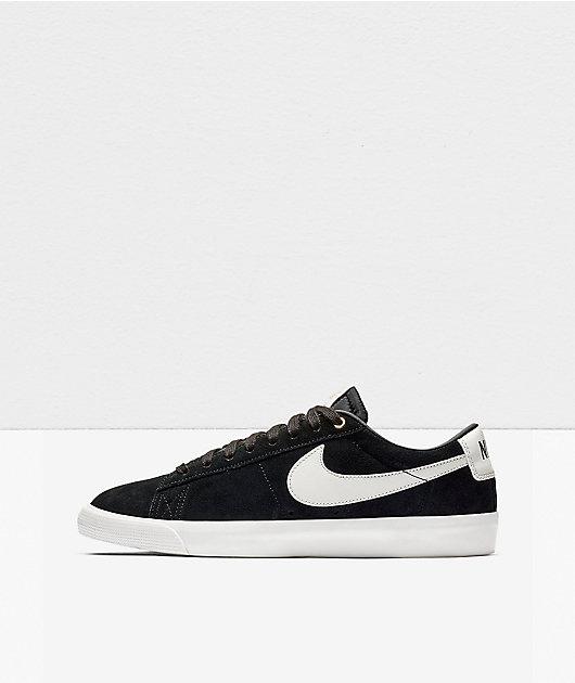 Nike SB Blazer Low GT Black & White Skate Shoes