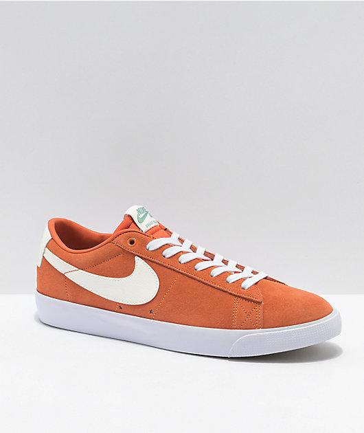 Nike SB Blazer Low GT Starfish & White Skate Shoes