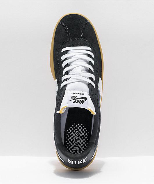 Nike SB Bruin React Black, White & Gum Skate Shoes