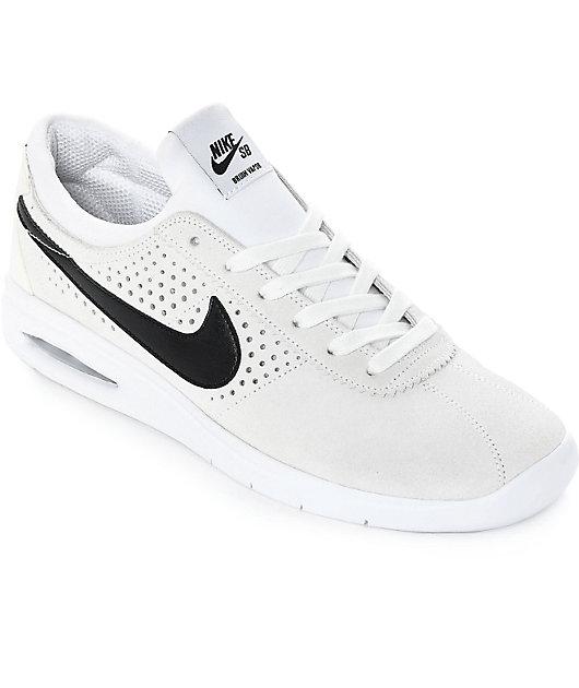 Nike SB Bruin Vapor Air Max White & Black Skate Shoes