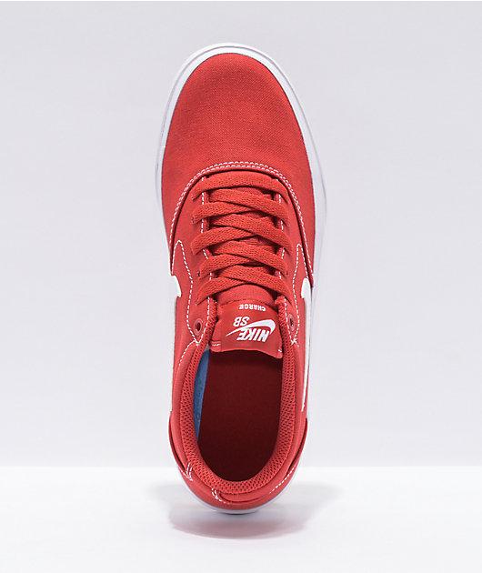 Nike SB Charge Kids Red Skate Shoes
