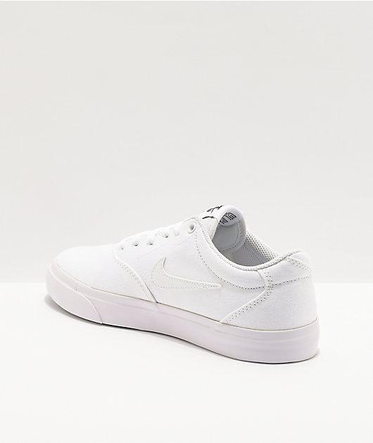 Nike SB Charge White Skate Shoes