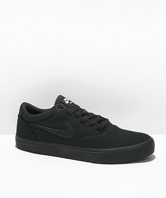 Nike SB Chron 2 Black Canvas Skate Shoes