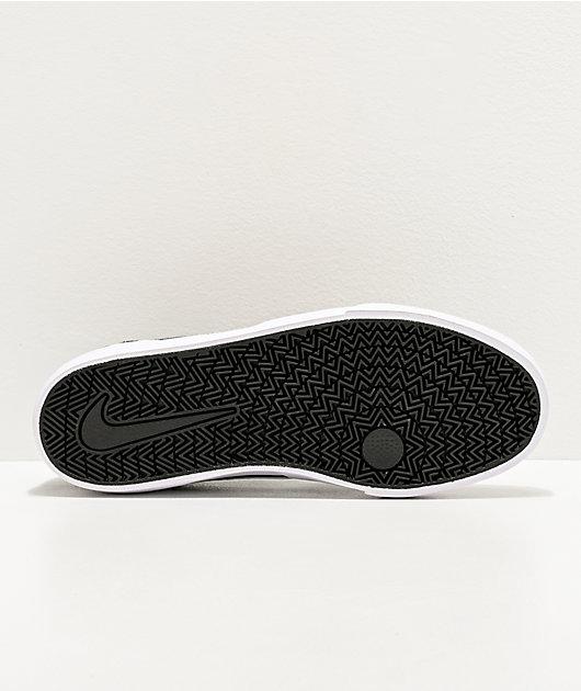 Nike SB Chron GS zapatos de skate en negro y blanco