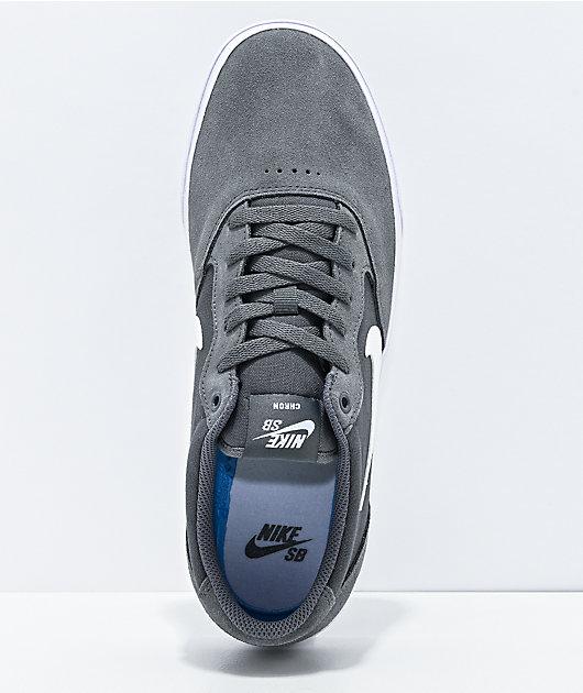 Nike SB Chron SLR Dark Grey & White Skate Shoes