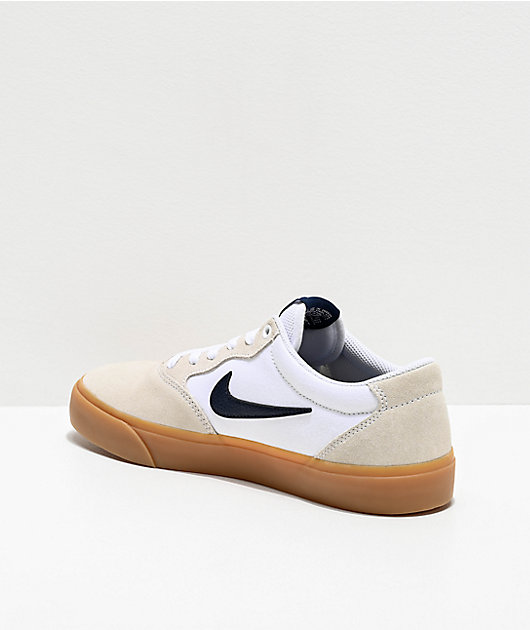 Nike SB Chron White & Gum Skate Shoes