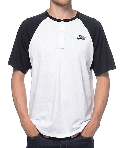 Nike SB Dri-Fit Black Henley T-Shirt