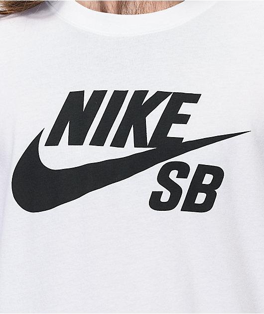 Nike SB Dri-Fit Logo White & Black T-Shirt
