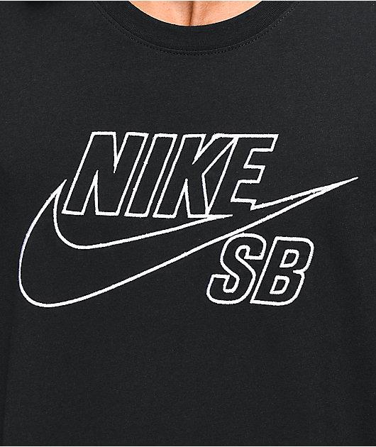 Nike SB Embroidered Logo Black & White T-Shirt