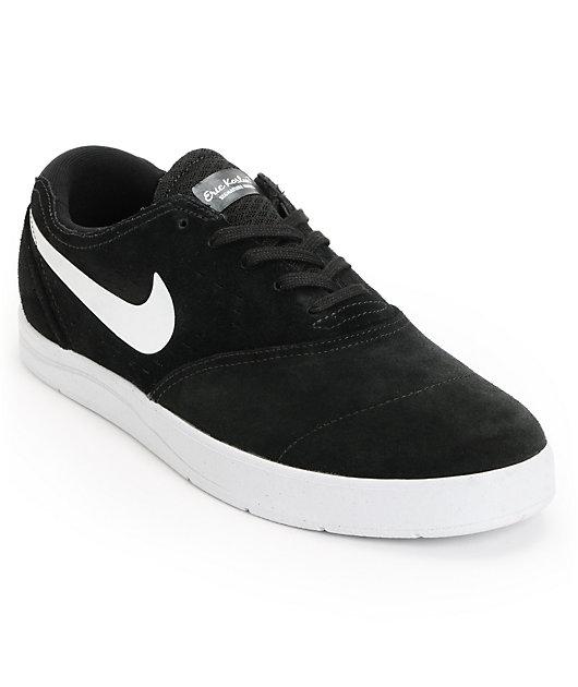 marco Clavijas oleada  Nike SB Eric Koston 2 Lunarlon Black & White Suede Skate Shoes | Zumiez