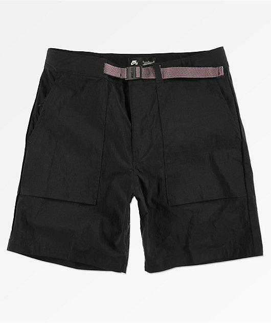 Nike SB Flex Everett Black Shorts   Zumiez