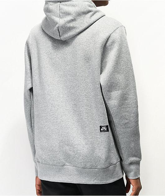 Nike SB GFX Hybrid Triangle sudadera con capucha gris oscuro