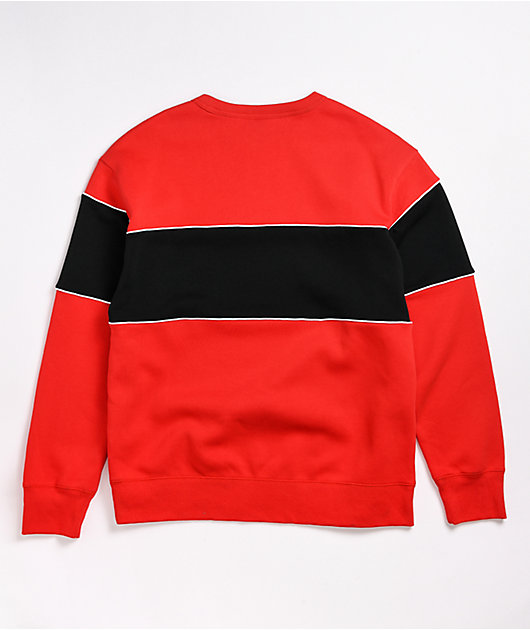 Nike SB HBR Red & Black Crew Neck Sweatshirt
