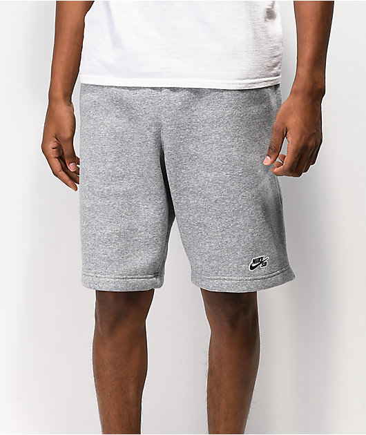 Nike SB Heather Fleece Grey Shorts